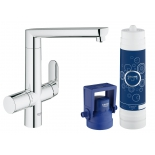 кухонный смеситель Grohe 31344001 Blue K7 (фильтрация, L-излив), хром (31344001)