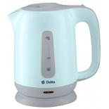 чайник электрический Delta DL-1001, голубой с серым