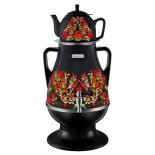 чайник электрический Самовар электрический Delta Lux DL-3022 К41250, черный/хохлома