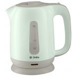 чайник электрический Чайник Delta DL - 1001, зелёный с серым