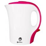 чайник электрический Василиса T8-1100, белый с розовым