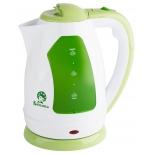 чайник электрический Василиса Т2-1500, белый с зеленым