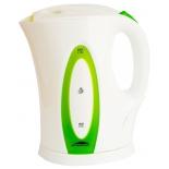 чайник электрический Эльбрус-4, белый с зеленым
