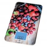 кухонные весы BBK KS107G темно-синий / красный с принтом