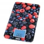 кухонные весы BBK KS107G, чёрно-красные