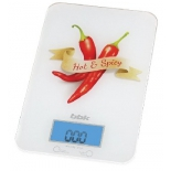 кухонные весы BBK KS106G белые с красным