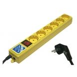 сетевой фильтр Power Cube B, 6 розеток, 3 м, жёлтый