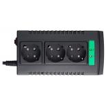 Стабилизатор напряжения APC Line-R LS1500-RS, 3 розетки, 1 м., чёрный