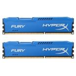 модуль памяти Kingston HX316C10FK2/16 (DDR3, 2x 8 Gb, 1600 MHz, CL10, DIMM) синяя