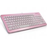 клавиатура Delux DLK-1500 USB, розово-белая