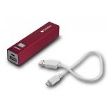 аксессуар для телефона Мобильный аккумулятор Canyon CNE-CSPB26R, 2600 mAh, красный