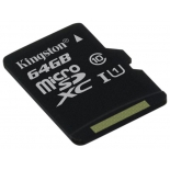 карта памяти Kingston SDC10G2/64GBSP (64Gb, class10, 45MB/s)