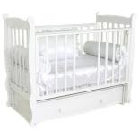 детская кроватка Красная Звезда Елисей С717, белая