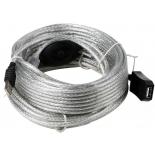 кабель (шнур) AOpen ACU823-15M (USB 2.0, M/F, 15 м)