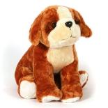игрушка мягкая Heitmann Felle Сидящий плюшевый щенок сенбернар, 27 см