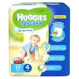 подгузник Huggies (трусики) для мальчиков от 9 до 14 кг, 17 шт