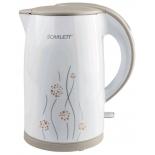 чайник электрический Scarlett SC-EK21S08 белый/бежевый