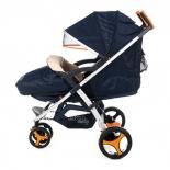 коляска Liko Baby BT-1218B, синяя