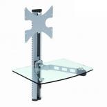 кронштейн для AV-плеера Brateck DVD-14C (23-42'', до 30 кг), серебристый