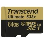 карта памяти Transcend MicroSDXC 64Gb class10  UHS-1
