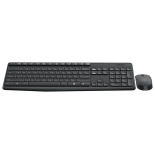 комплект Logitech MK235 Wireless Keyboard and Mouse, черный
