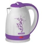 чайник электрический Ладомир 121, белый/фиолетовый