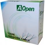кабель (шнур) UTP 4 пары 6 кат. 305м, Aopen ANC614