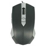 мышка CBR CM 345 USB, черно-серебристая