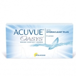 контактные линзы Johnson&Johnson Acuvue Oasys, R: 8.4, D: -5.5, 6 шт.