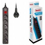сетевой фильтр Buro 600SH-1.8-B,черный