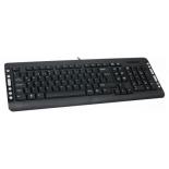клавиатура Delux K5015, черно-серебристая
