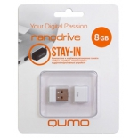usb-флешка Qumo Nanodrive  USB2.0 8Gb (RTL), White