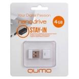 usb-флешка Qumo Nanodrive USB2.0 4Gb (RTL), White