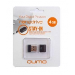 usb-флешка Qumo Nanodrive USB2.0 4Gb (RTL), Black