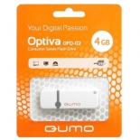 usb-флешка Qumo Optiva USB2.0 4Gb (RTL), White