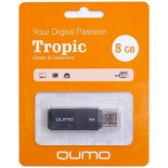 usb-флешка Qumo Tropic USB2.0 8Gb (RTL), Black