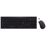 комплект Oklick 210 M Wireless Keyboard Optical Mouse, черный