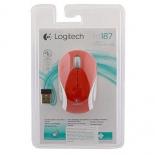 мышка Logitech M187, красная