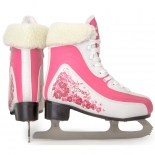 коньки Larsen Karmen размер 40, розовые / белые