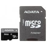 карта памяти MicroSDXC 64Gb AUSDX64GUICL10-RA1
