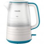 чайник электрический Philips HD9334/11, белый/голубой