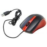 мышка Oklick 225M USB черный/красный