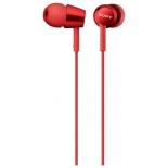гарнитура для телефона Sony MDR-EX150AP, красная