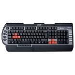 клавиатура A4Tech X7-G800MU Black-Silver PS/2, черно-серебристая