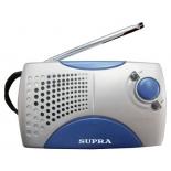 Радиоприемник Supra ST-113, серебристый с голубым