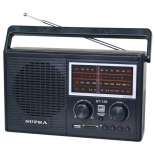 Радиоприемник Supra ST-126, черный