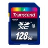 карта памяти Флеш карта SDXC 128Gb class10 Transcend