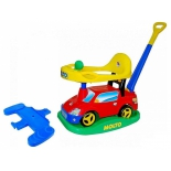 товар для детей MOLTO Автомобиль-каталка Пикап многофункциональный с ручкой + клаксон