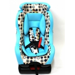 автокресло Liko Baby LB 718, голубое с кругами