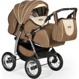 Коляска Indigo Maximo, Ma 02 коричневая + светло-бежевая, купить за 12 399руб.